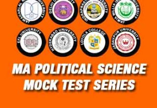 MA Political Science Entrance Mock Test Series